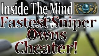 Inside the mind: Fastest Sniper Owns Cheater! CS:GO Global Game