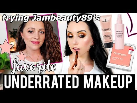 UNDERRATED MAKEUP First Impressions! Testing Jambeauty89's Favorites 😱 thumbnail