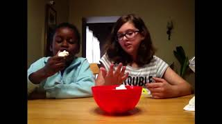 Chubby Bunny challenge with Gabby!