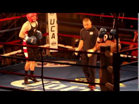 Arturo Cervantes, (Red Headgear) Palafox Boxing Gym vs.Brent Farris, Butte County Probation (147lbs)