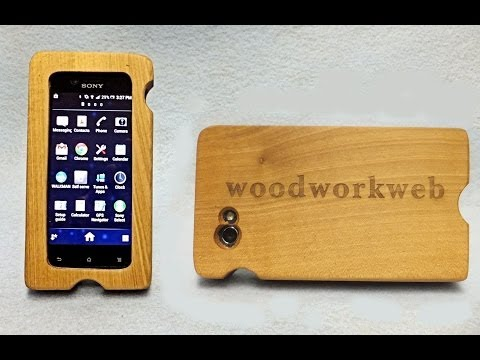 Make a Wood iPhone or Wood Smart Phone Case - a woodworkweb woodworking video