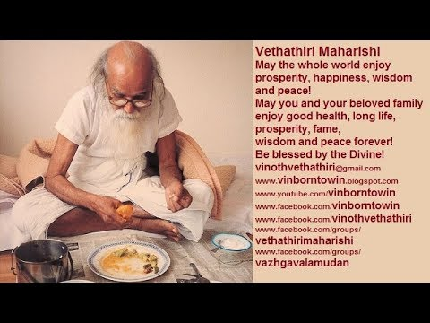 vethathiri maharishi food habits
