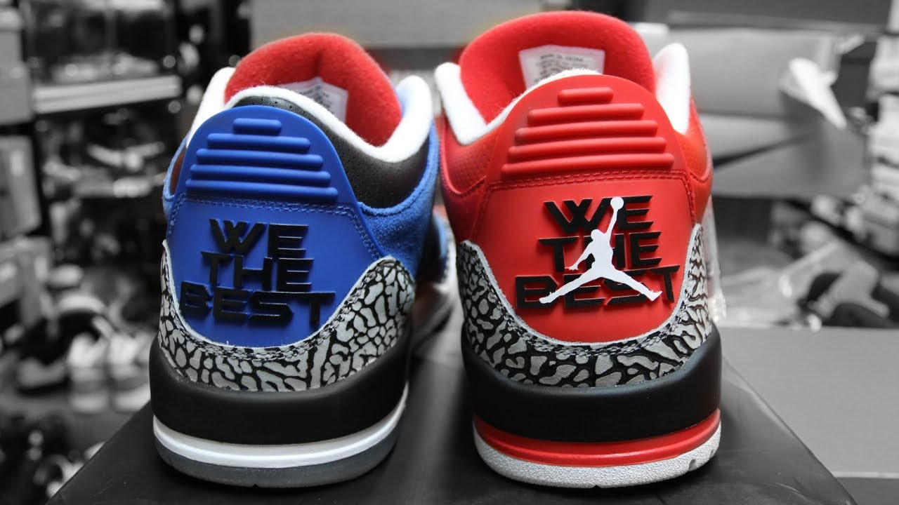 the best attitude 5a0db 1be8e AIR JORDAN 3 DJ KHALED WE THE BEST (RED & BLUE)