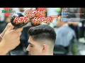 BARBER TUTORIAL on Classic mens Haircut with Bald Fade