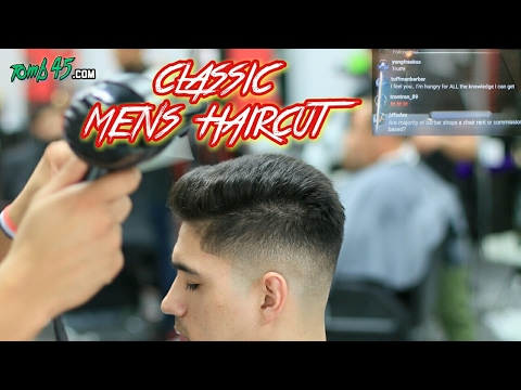 Barber Tutorial On Classic Mens Haircut With Bald Fade Youtube
