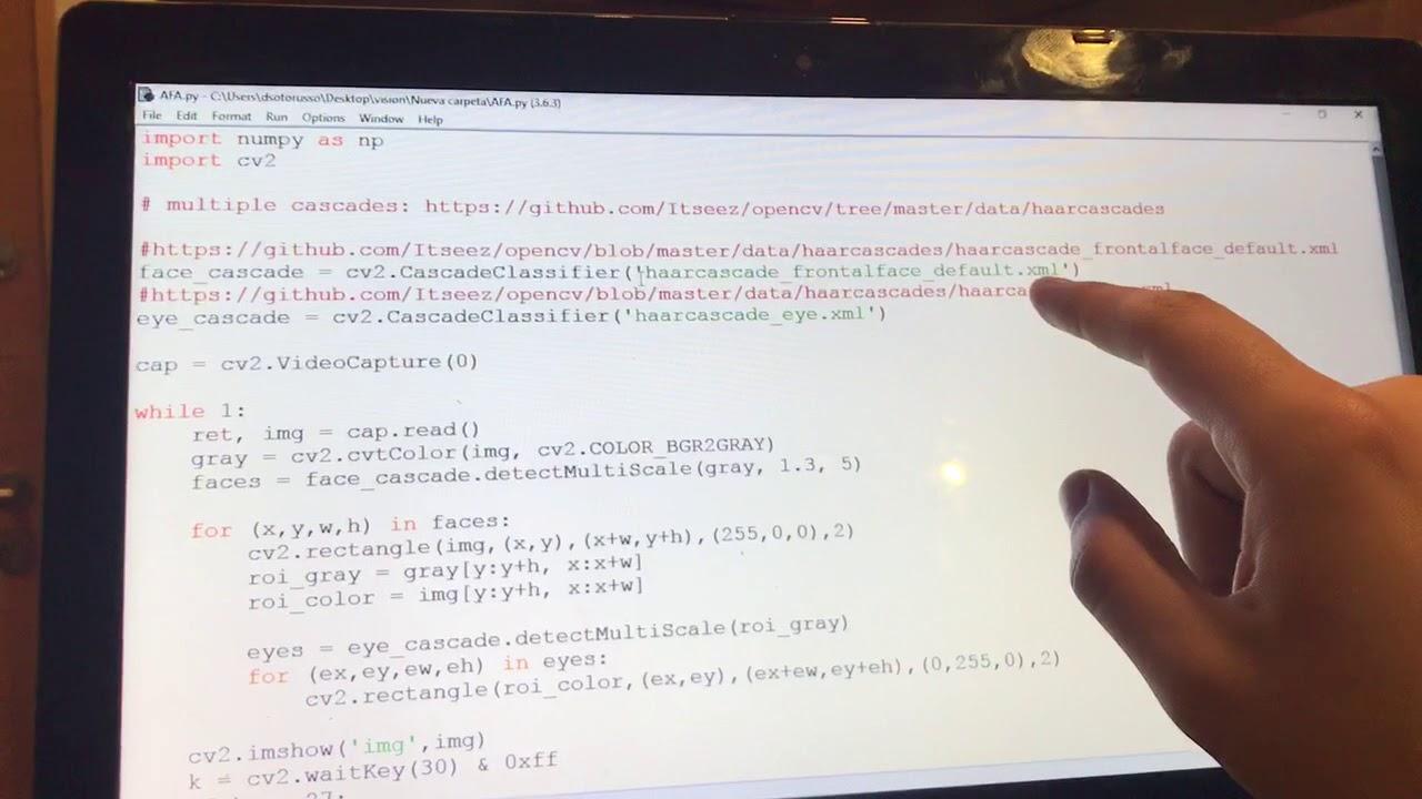 Sistema de Eye Tracking basado en OpenCV y Python