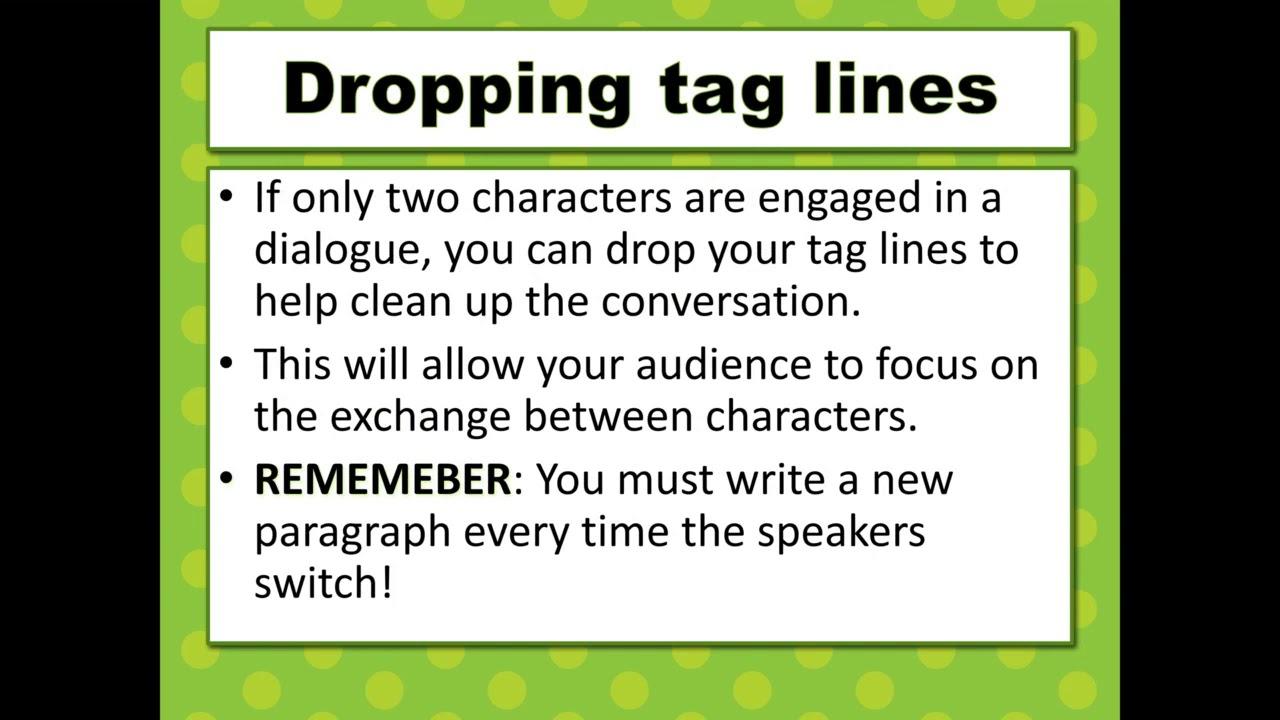 Narrative Writing Dialogue Part 18 - YouTube