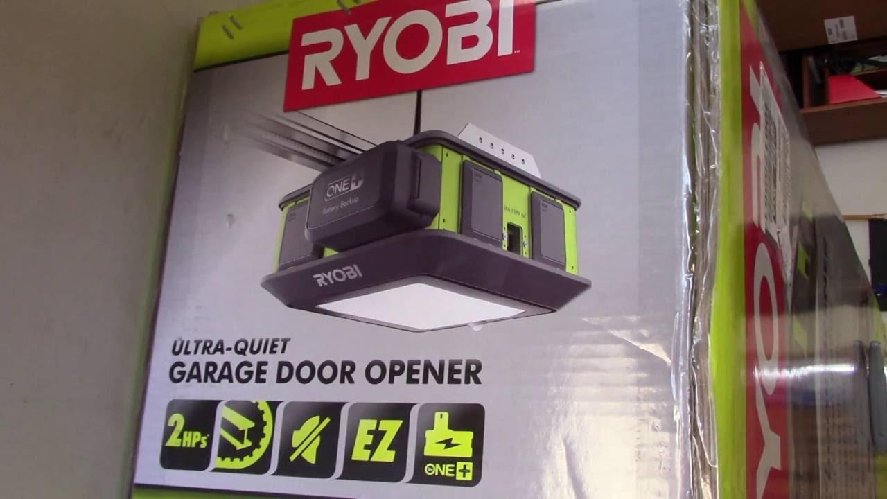 ryobi garage door opener unboxing