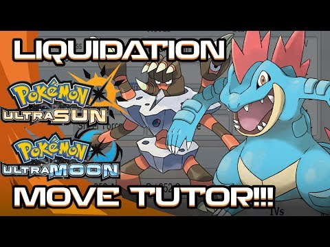 LIQUIDATION Move Tutor! These Water types enjoy this most! POKEMON ULTRA SUN AND MOON!
