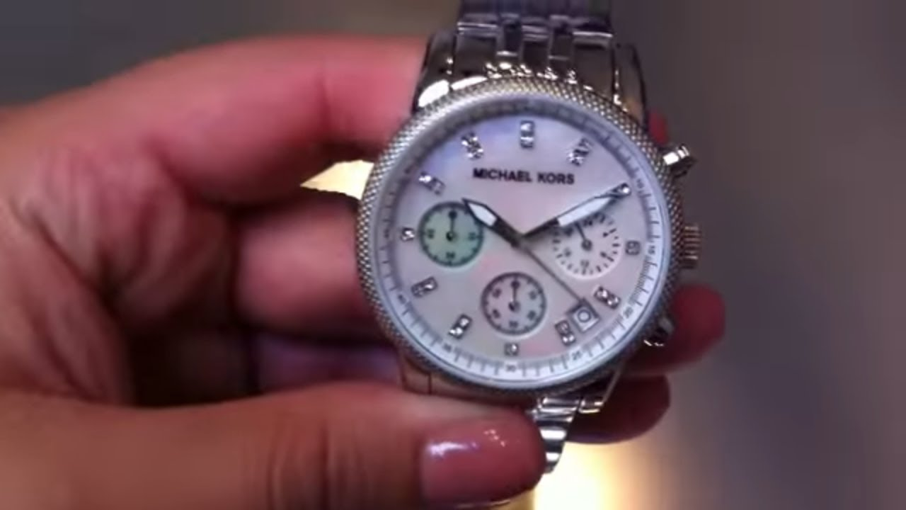 df9e0df990d0 Women s Michael Kors Chronograph Watch MK5020 - YouTube
