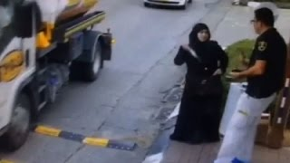 Raw: Palestinian Woman Stabs Security Guard