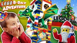 Legoland Christmas! Shawn's 3rd Birthday Lego Adventure #1 Funnel Family