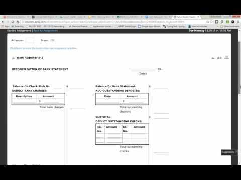 Work Together 5-2 Bank Reconcilations