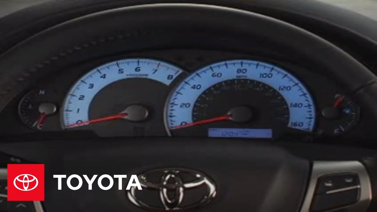 2007 - 2009 Camry How-To: Instrument Panel Lighting | Toyota