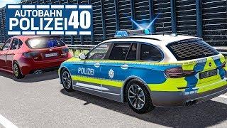 Auto flüchtet vor Kontrolle! AUTOBAHNPOLIZEI-SIMULATOR 2 #40 | Police Simulator 2 deutsch