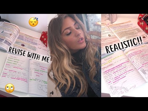 REALISTIC REVISE WITH ME FOR GCSES! HALF TERM!