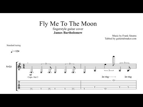 Fly Me To The Moon TAB - fingerstyle guitar tab - PDF ...  Fingerstyle