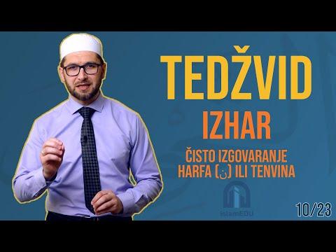 TEDŽVID: IZHAR - ČISTO IZGOVARANJE HARFA N (ن) ILI TENVINA