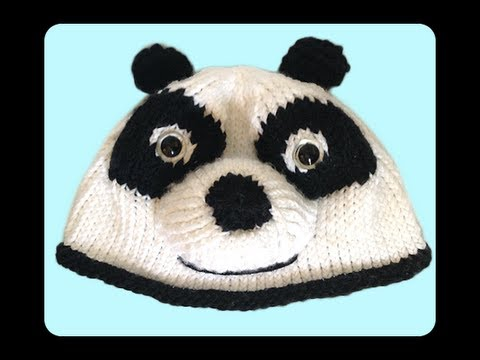 How To Knit Panda Hat Step By Step Tutorials Part 1 The Hat Youtube