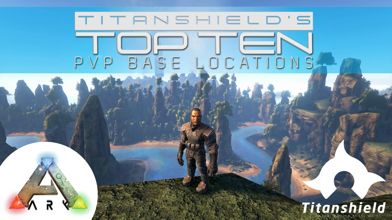 Best Base Locations Ark The Island 2020 Ark Survival Evolved   Top Ten PVP Base Locations on The Center
