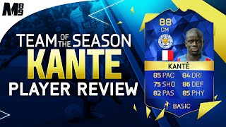 FIFA 16 TOTS KANTE REVIEW (88) FIFA 16 Ultimate Team Player Review + In Game Stats