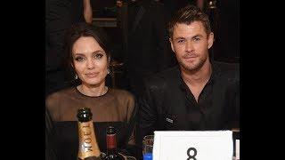 Angelina Jolie with Brad Pitt look alike Chris Hemsworth