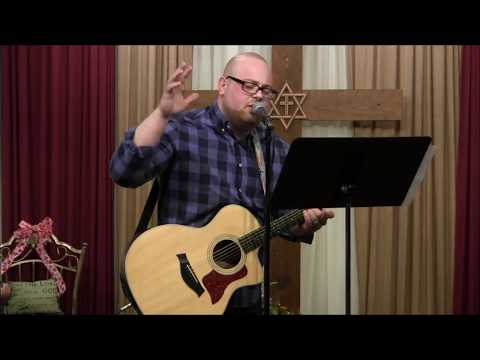 Singer/Songwriter Anthony Avella ministers in song at Samantha's Li'l Bit of Heaven