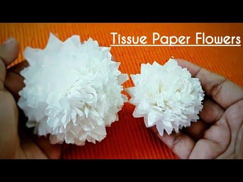 DIY Tissue Paper Craft : How to make EASY TISSUE paper FLOWER | Centerpiece ideas / Decoration Ideas