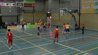 9 march 2019 Rivertrotters MSE2 vs Punch MSE3 68-73 1st period
