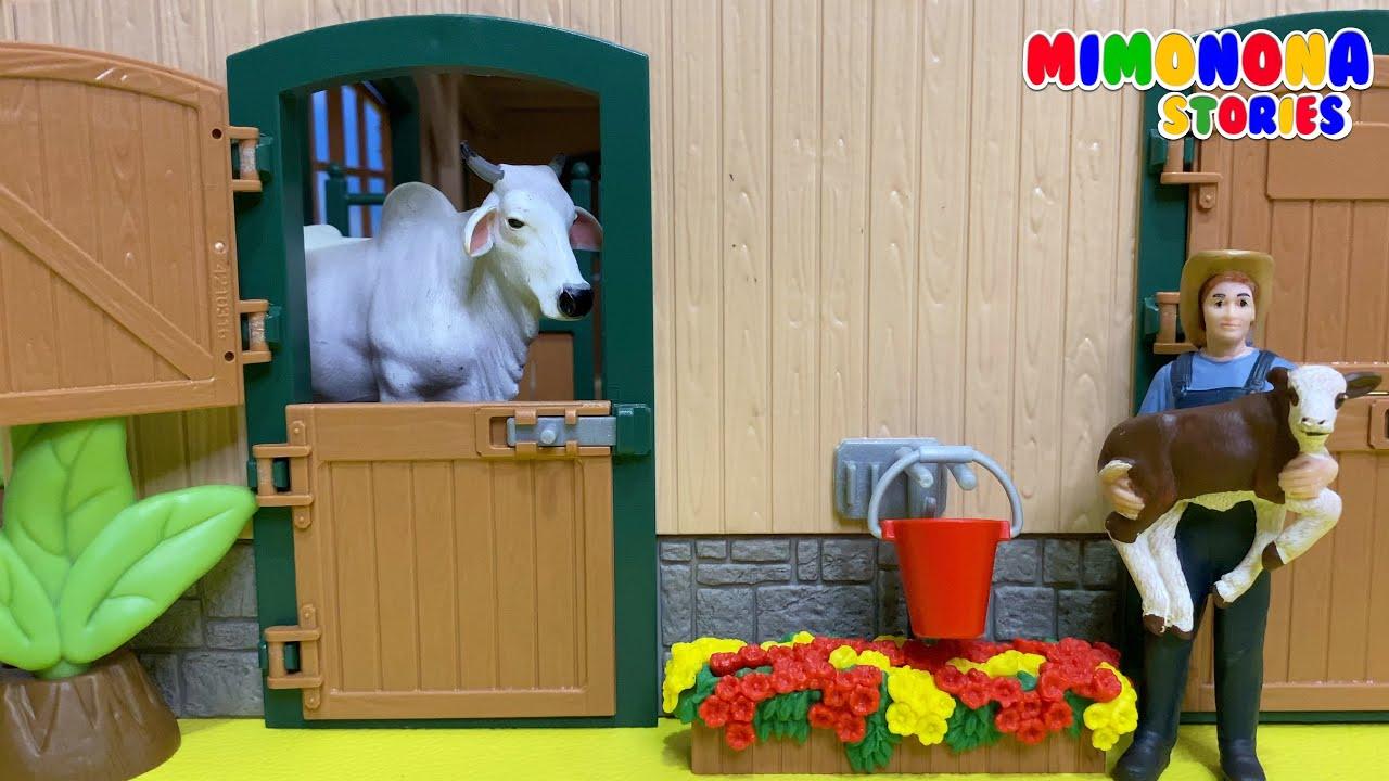Toc Toc... Hola! Quién es?... Es la Vaca 🐮 Animales dela Granja para niños ✨ Mimonona Stories