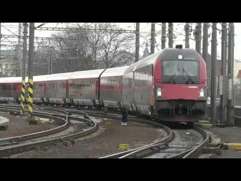 DEPARTURE OF RAILJET FROM PRAGUE TO OSTRAVA 17.04.2013 (SC513)