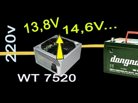 How To Charge A Car Battery Without A Charger >> convert atx power supply to car battery charger - YouTube