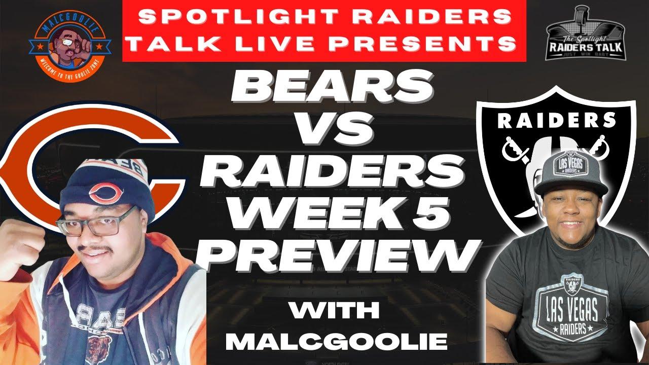 Bears vs. Raiders live game thread