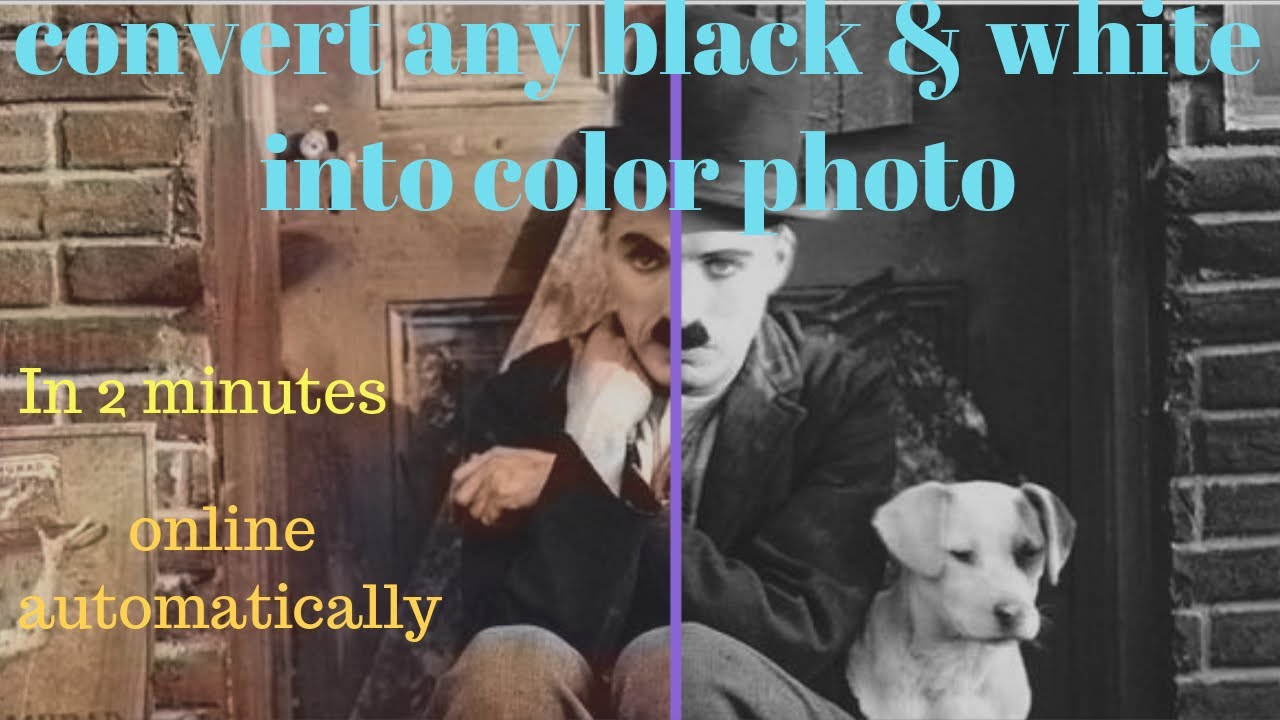 Online change any black and white photo into colour photo automatically 2017 hindi