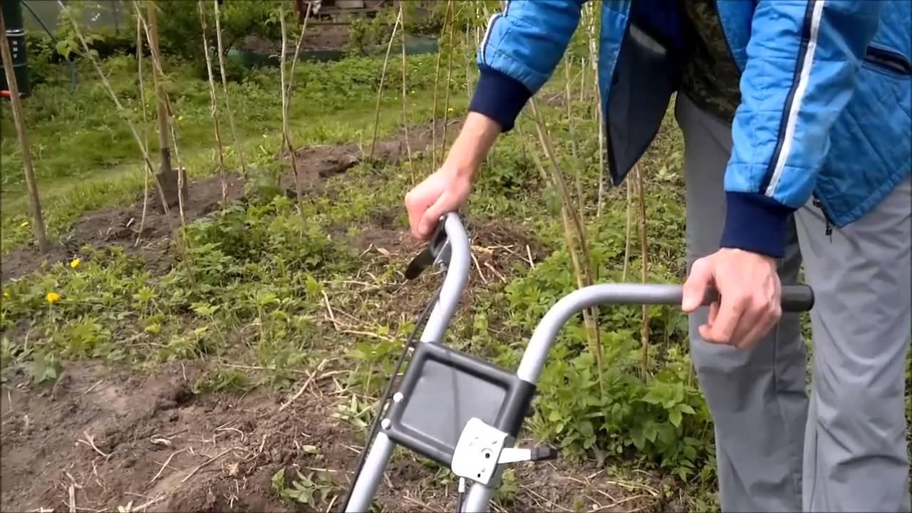 Мотокультиватор КРОТ с ходоуменьшителем и картофелекопалкой - YouTube