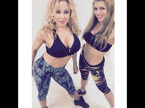 Tania Amthor and Rebecca Lee - Fitness Competitor Shoulder Workout