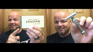 First look at the West Coast Shaving Stainless Steel Safety Razor