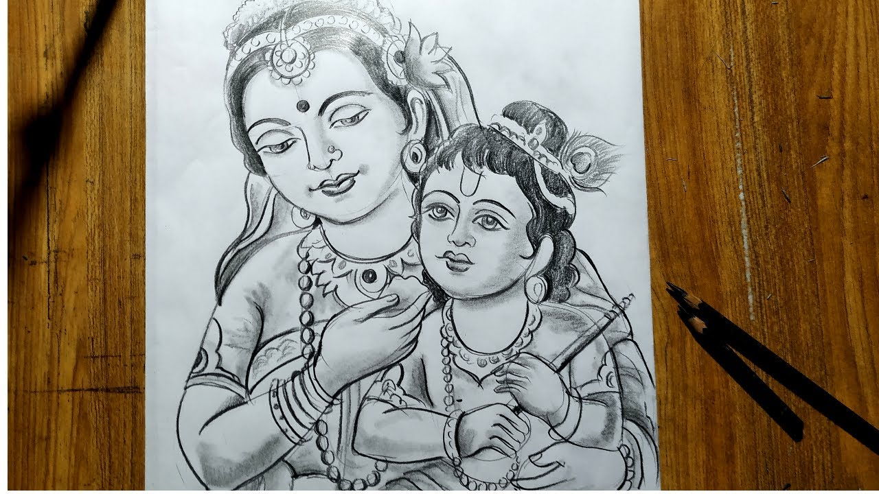mother's day drawing with pencil sketch,how to draw bal ...