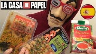 FOOD ASMR LA CASA DE PAPEL Test 3 PRODUITS D'ESPAGNE ! - dégustation/nourriture/mukbang - Français