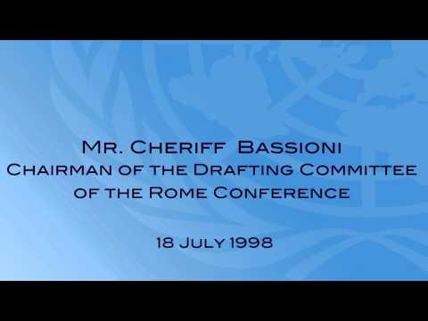 Cherif Bassioni at the signing ceremony of the Rome Statute of the ICC - 1998