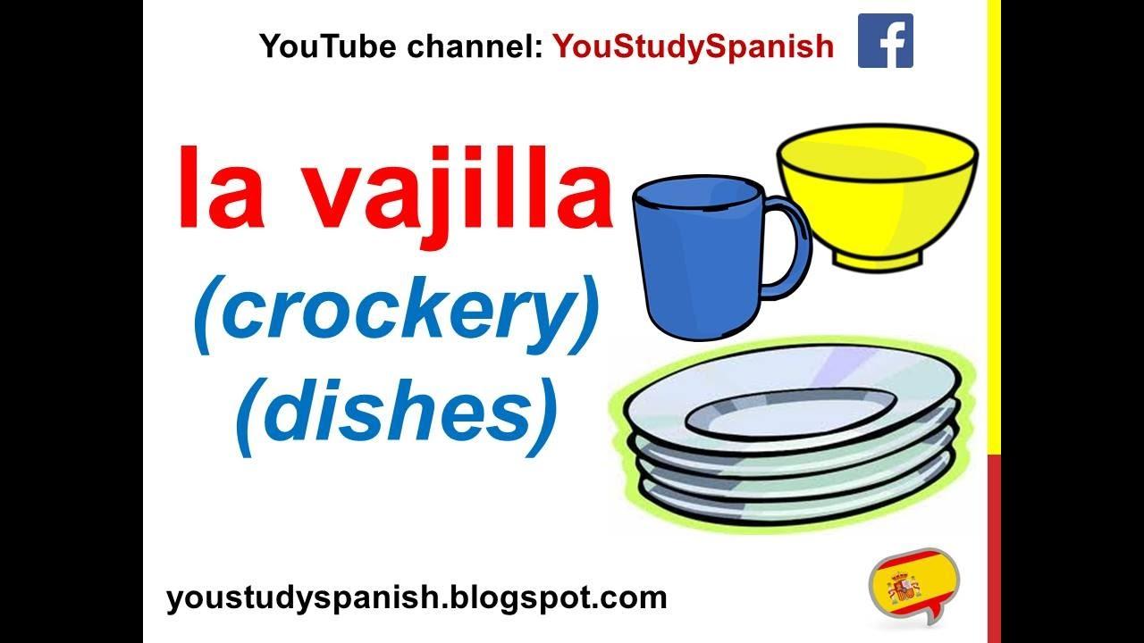 Spanish Lesson 64 Kitchen Utensils In Spanish Vocabulary For Kids Utensilios De Cocina Para Ninos