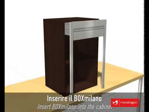 Montaje 3D Kit Persiana Aluminio Box Milano para Mueble de Cocina