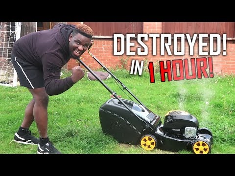 How To Destroy a LAWN MOWER In 1 Hour! *I'm so STUPID!!