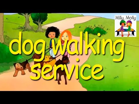 Milly Molly | Dog Walking Service | S2E14