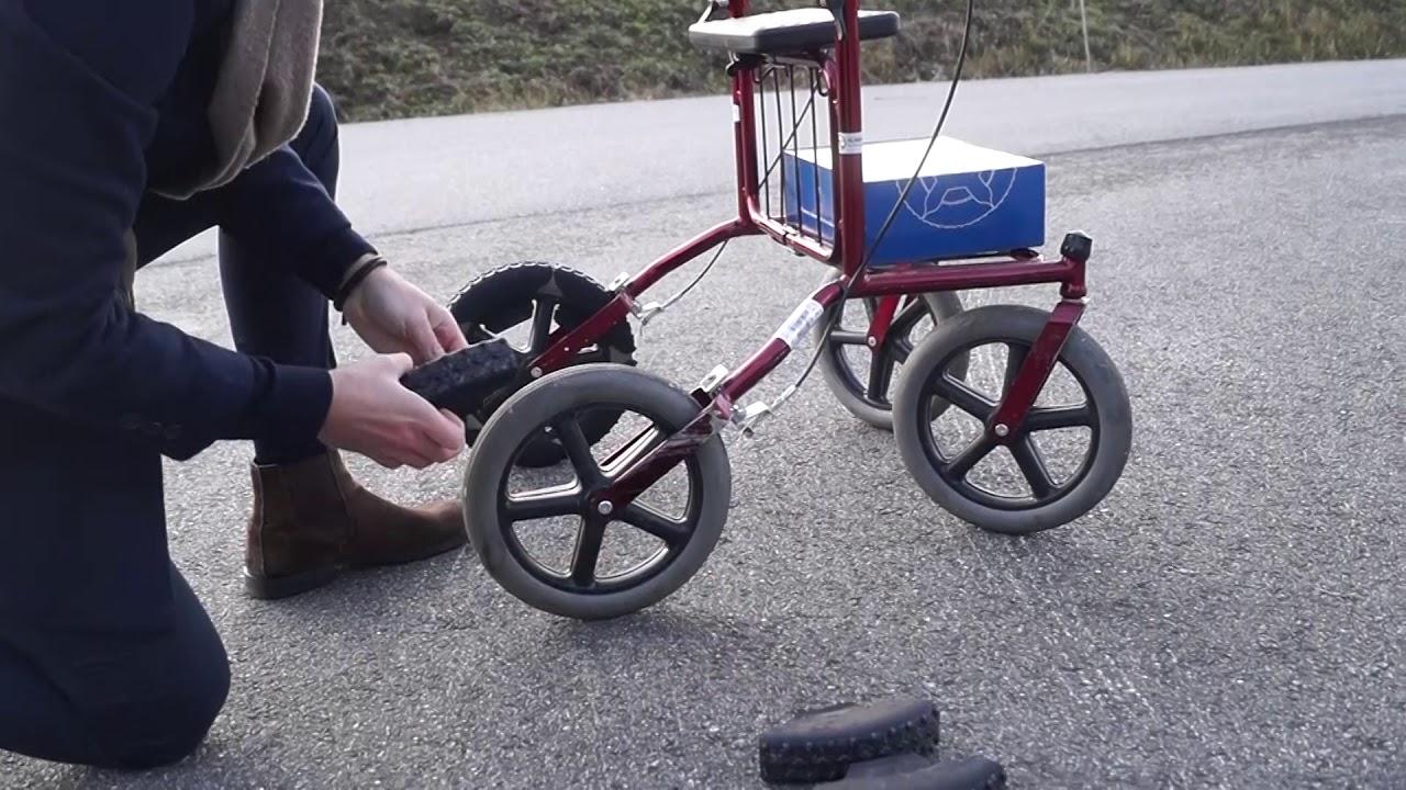 Rollatorbroddar - Hur använder man halkskydd till rollator