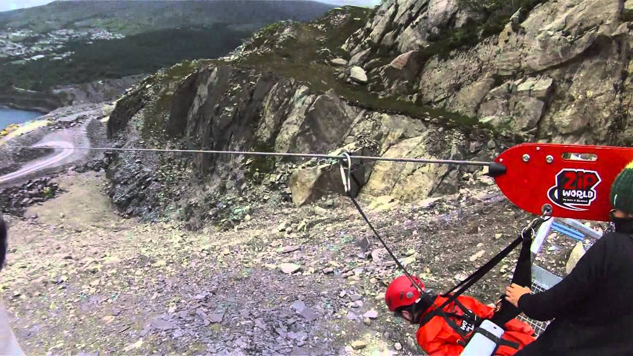 4 man zip wire wales warn m8000 remote wiring diagram world s fastest line contour roam helmet cam footage bangor youtube