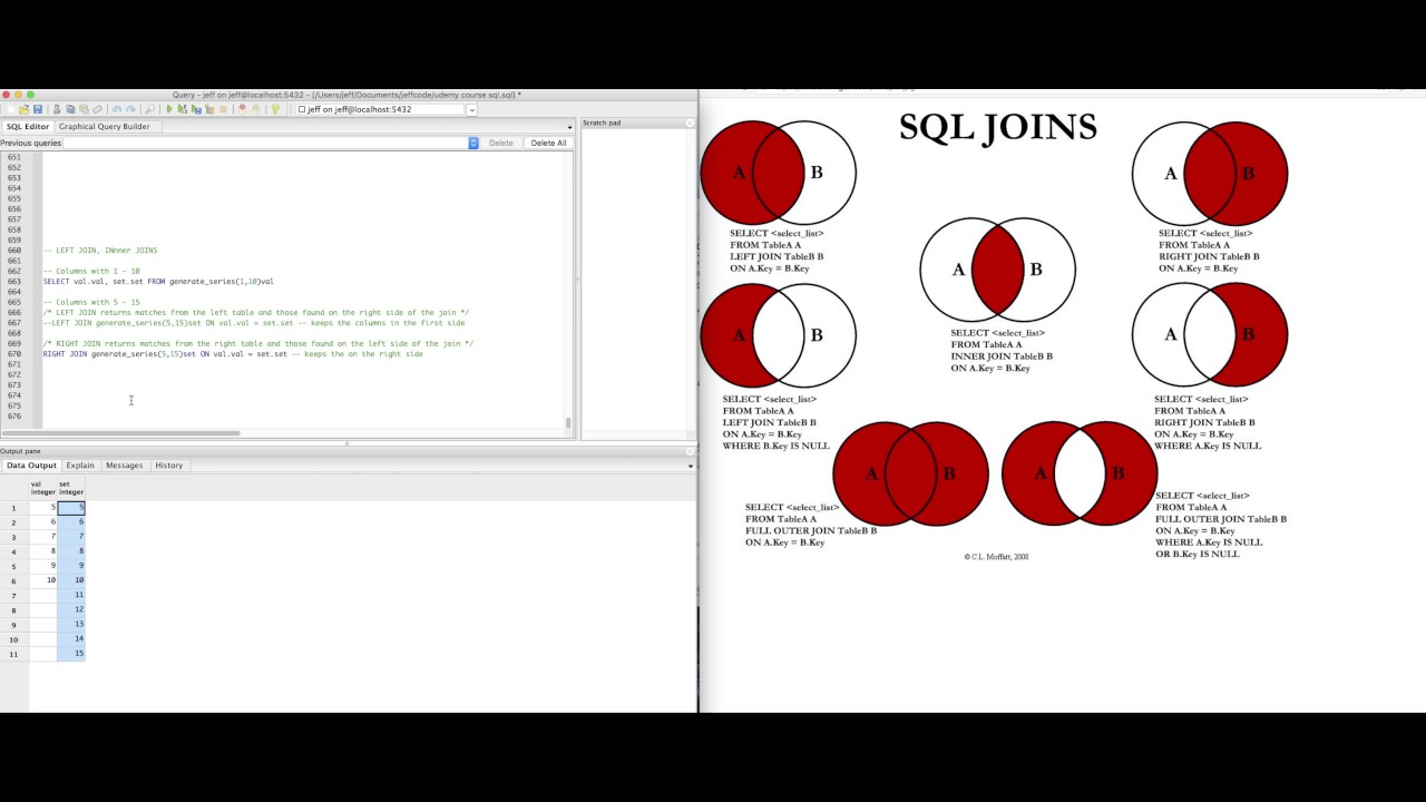 Basics of sql joins using dvd rental database youtube basics of sql joins using dvd rental database ccuart Image collections