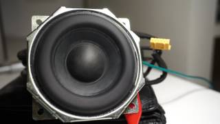 Sony srs x5 Insane Subwoofer Excursion !!