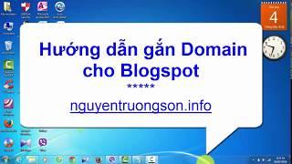 Hướng dẫn gắn tên miền vào Blogspot chi tiết đơn giản - nguyentruongson.info