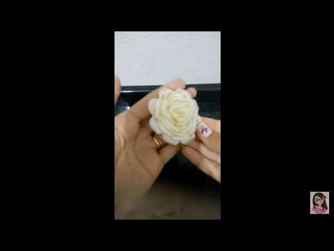 flor boleada de fita de cetim parte...